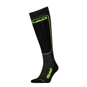 Носки горнолыжные Head UNISEX SKI PERFORMANCE KNEEHIGH 1P black-yelow